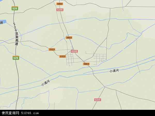 中国山东省滨州市博兴县地图(卫