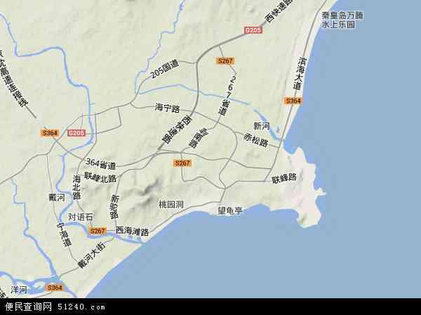 中国河北省秦皇岛市北戴河区地图(卫星地图)