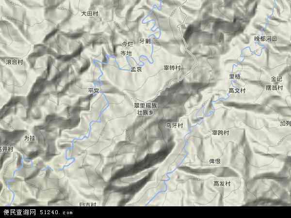 省黔东南苗族侗族自治州从江县翠里乡地图(卫星地图)