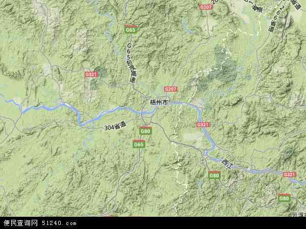 苍梧县地图 - 苍梧县卫星地图