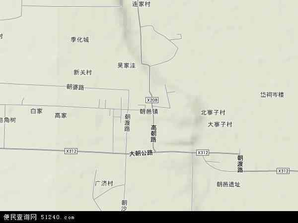 中国陕西省渭南市大荔县朝邑镇地图(卫星地图)