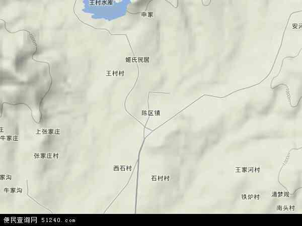 中国山西省晋城市高平市陈区镇地图(卫星地图)