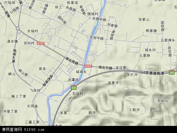 中国湖南省岳阳市临湘市长安地图(卫星地图)