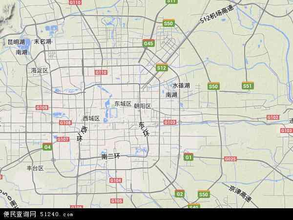朝阳区地图 - 朝阳区卫星地图