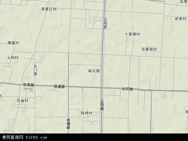 中国山东省淄博市周村区城北路地图(卫星地图)