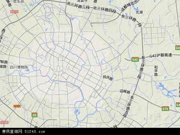 成华区地图 - 成华区卫星地图