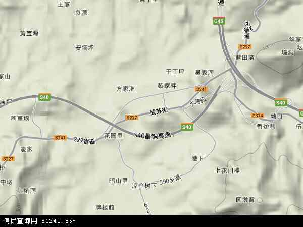 中国江西省宜春市铜鼓县带溪乡地图(卫星地图)图片