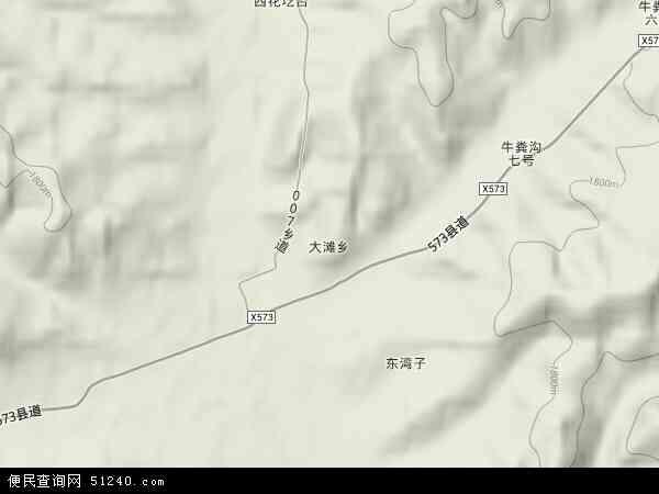 大滩乡地图 - 大滩乡卫星地图