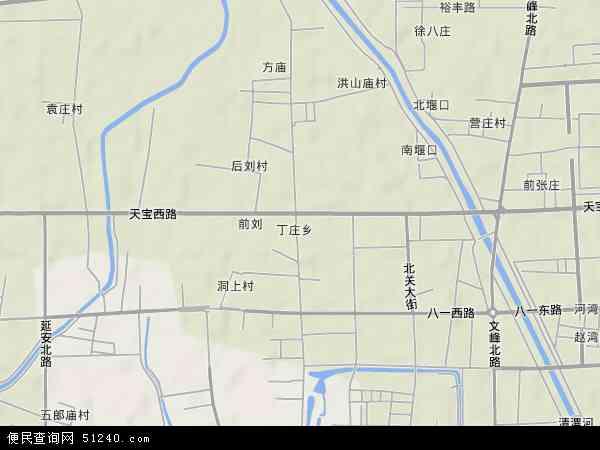 中国河南省许昌市魏都区丁庄地图(卫星地图)