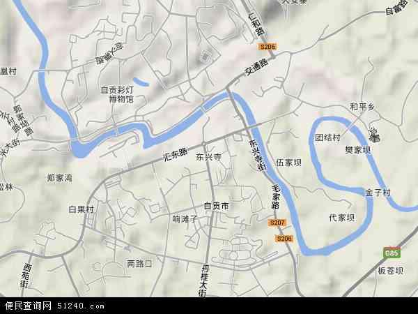 东兴寺地图 - 东兴寺卫星地图