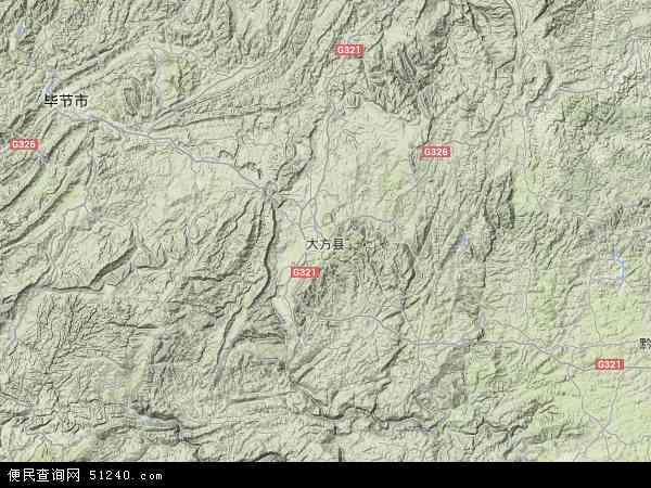 大方县地图 - 大方县卫星地图