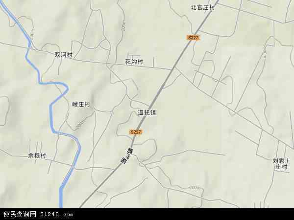 中国山东省临沂市沂水县道托镇地图(卫星地图)