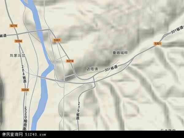 店塔镇地图 - 店塔镇卫星地图