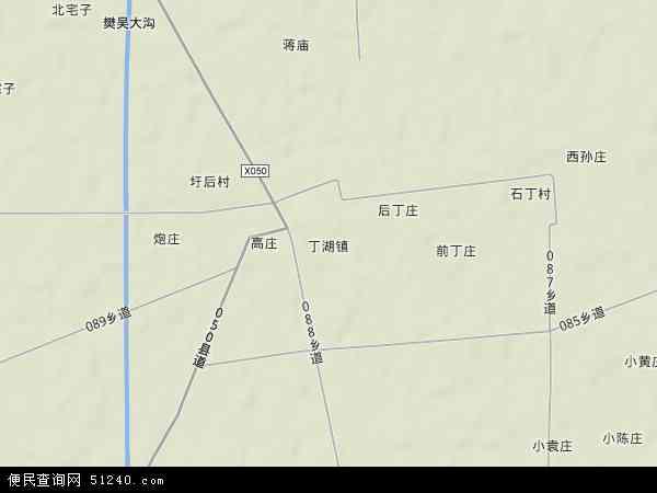 中国安徽省宿州市泗县丁湖镇地图(卫星地图)
