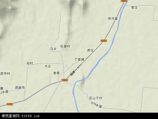 中国安徽省宿州市萧县丁里镇地图(卫星地图)