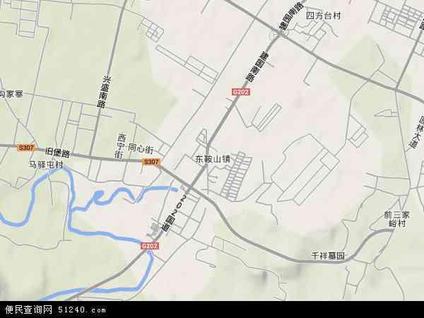 中国辽宁省鞍山市千山区东鞍山地图(卫星地图)