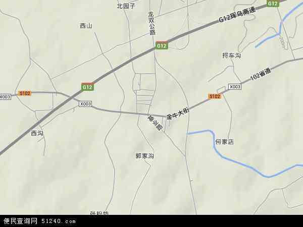 中国吉林省长春市二道区东湖镇地图(卫星地图)图片