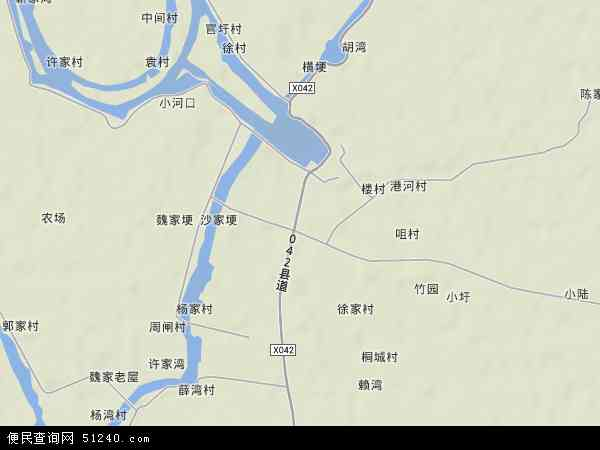 中国安徽省芜湖市无为县陡沟镇地图(卫星地图)