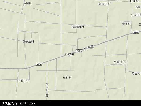 中国河北省衡水市景县杜桥镇地图(卫星地图)