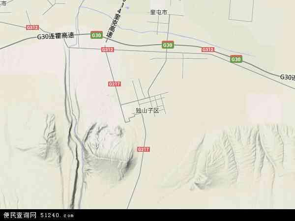 独山子区地图 独山子区卫星地图 独山子区高清航拍地图 独山子区高清