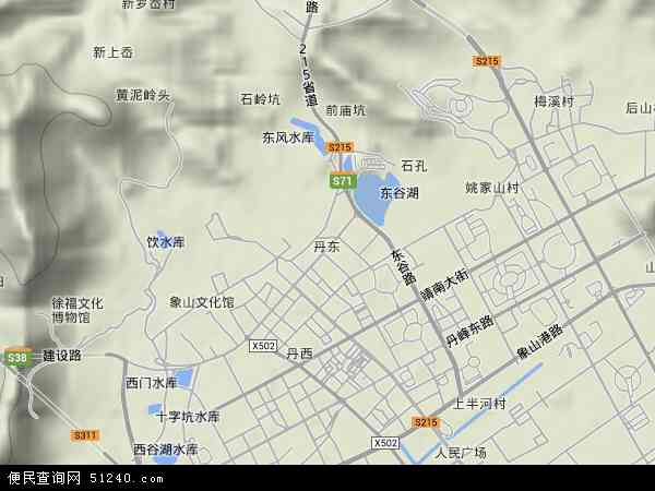 中国浙江省宁波市象山县丹东地图(卫星地图)
