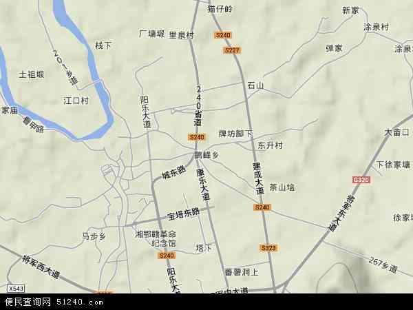 中国江西省宜春市万载县鹅峰乡地图(卫星地图)