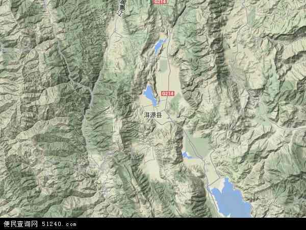 洱源县地图 - 洱源县卫星地图图片
