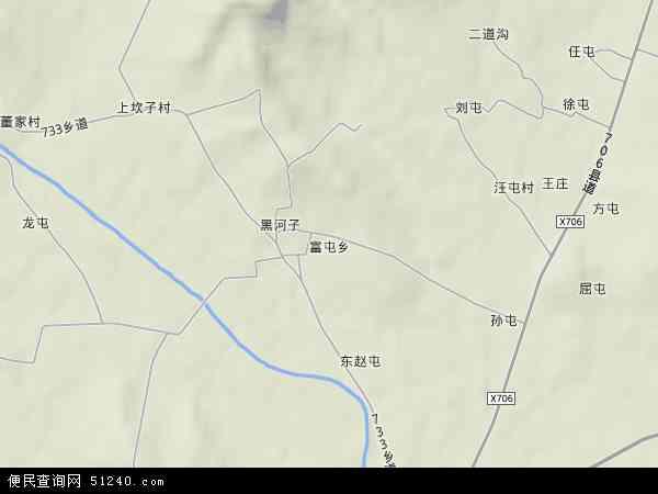 中国辽宁省锦州市北镇市富屯乡地图(卫星地图)