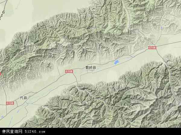 繁峙县地图 - 繁峙县卫星地图图片