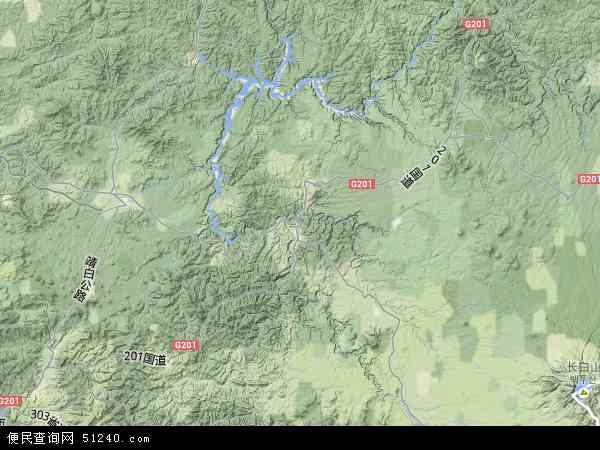 抚松县地图 - 抚松县卫星地图图片