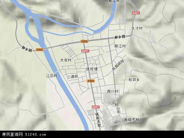 抚松镇地图 - 抚松镇卫星地图图片