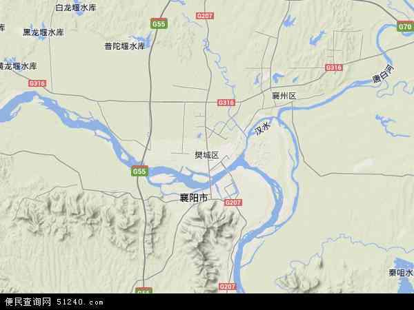 樊城区地图 - 樊城区卫星地图图片