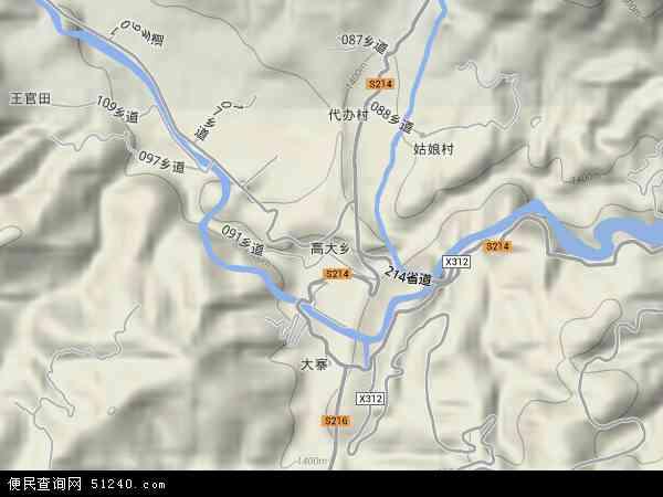 中国云南省玉溪市通海县高大乡地图(卫星地图)