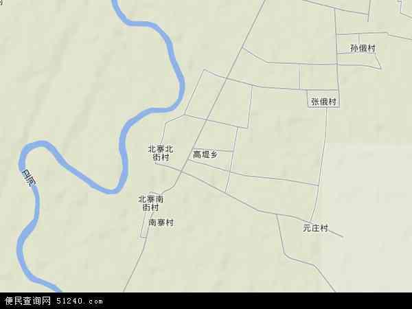 中国河南省安阳市内黄县高堤乡地图(卫星地图)
