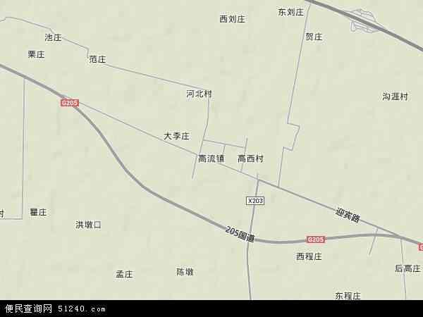 中国江苏省徐州市新沂市高流镇地图(卫星地图)