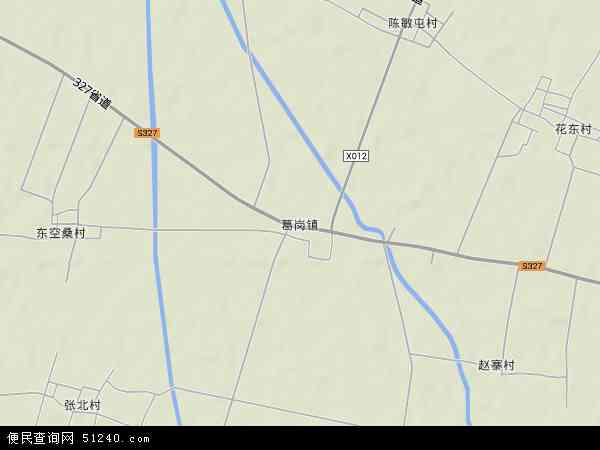 中国河南省开封市杞县葛岗镇地图(卫星地图)图片