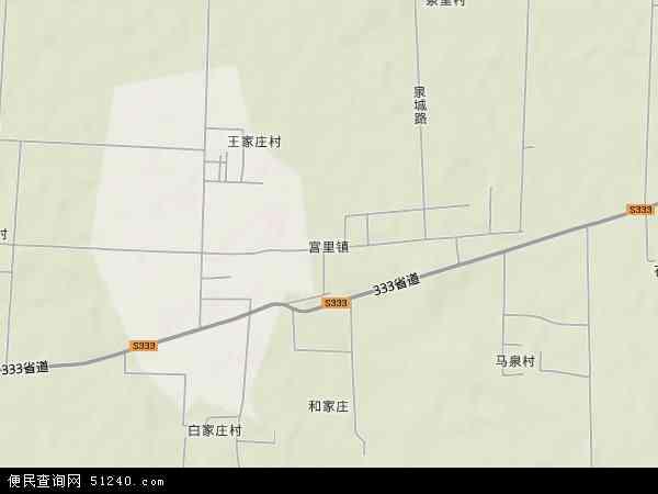 中国山东省泰安市新泰市宫里镇地图(卫星地图)