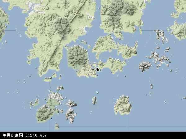 韩国全罗南道莞岛郡地图(卫星地图)