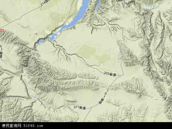 中国青海省海南藏族自治州贵南县地图(卫星地图)