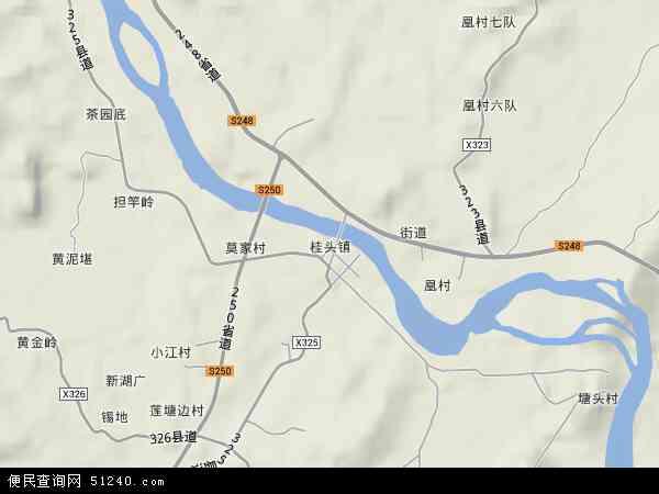 中國廣東省韶關市乳源瑤族自治縣桂頭鎮地圖(衛星地圖)圖片