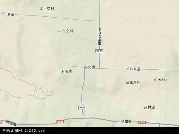 古交市卫星地图_中国山西省运城市新绛县古交镇地图