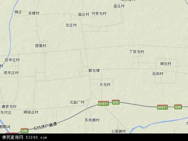 中国山东省菏泽市郓城县郭屯镇地图(卫星地图)图片