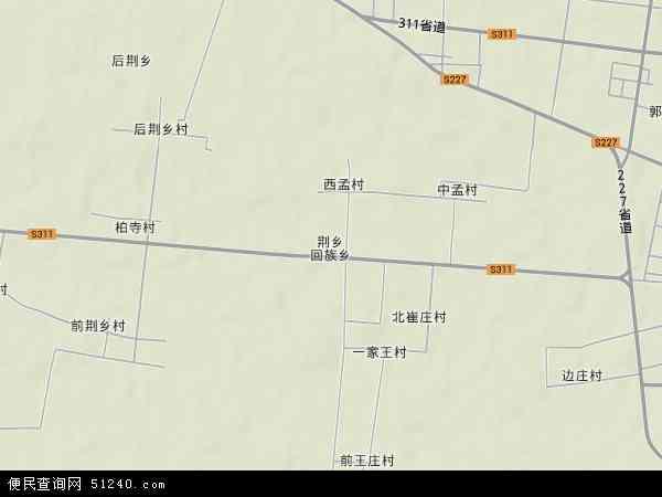 中国河南省新乡市封丘县回族乡地图(卫星地图)