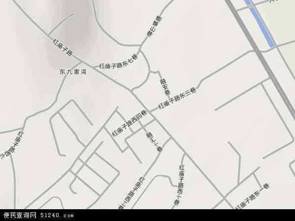中国新疆维吾尔自治区乌鲁木齐市沙依巴克区红庙子地图(卫星地图)