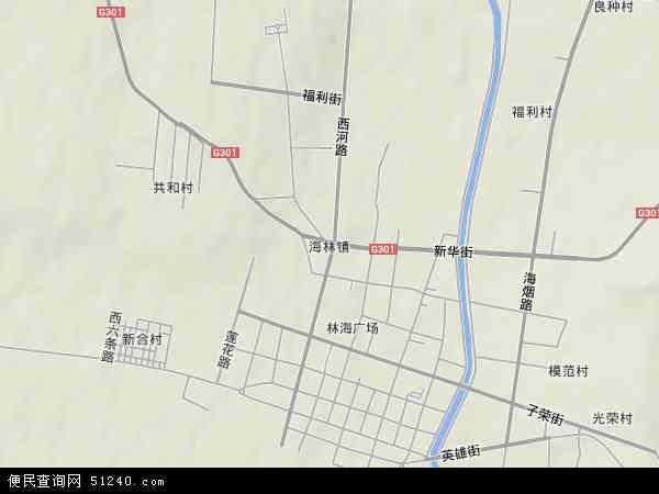 中国黑龙江省牡丹江市海林市海林镇地图(卫星地图)