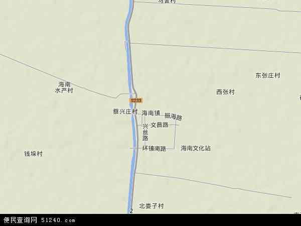 海南镇地图 - 海南镇卫星地图 - 海南镇高清航拍地图