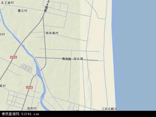 中国江苏省连云港市赣榆县海头镇地图(卫星地图)
