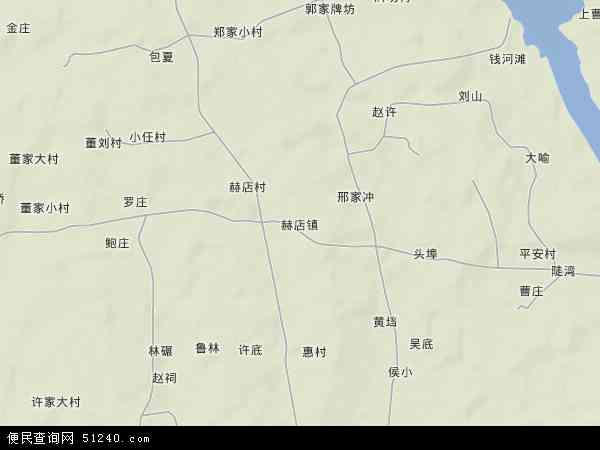 中国安徽省芜湖市无为县赫店镇地图(卫星地图)