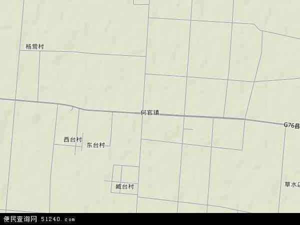 中国山东省潍坊市青州市何官镇地图(卫星地图)
