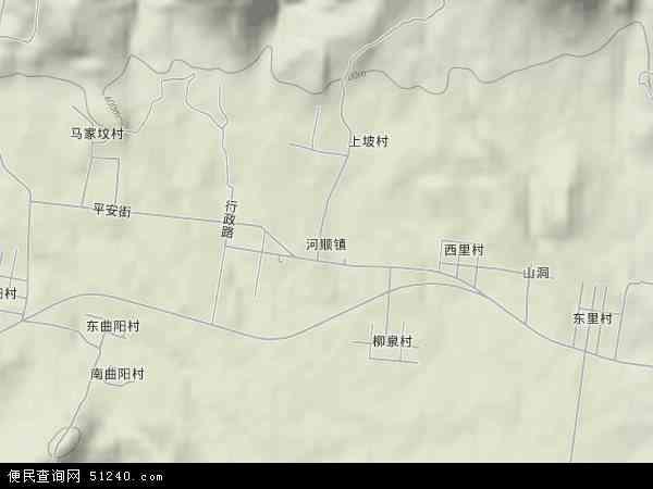 中国河南省安阳市林州市河顺镇地图(卫星地图)